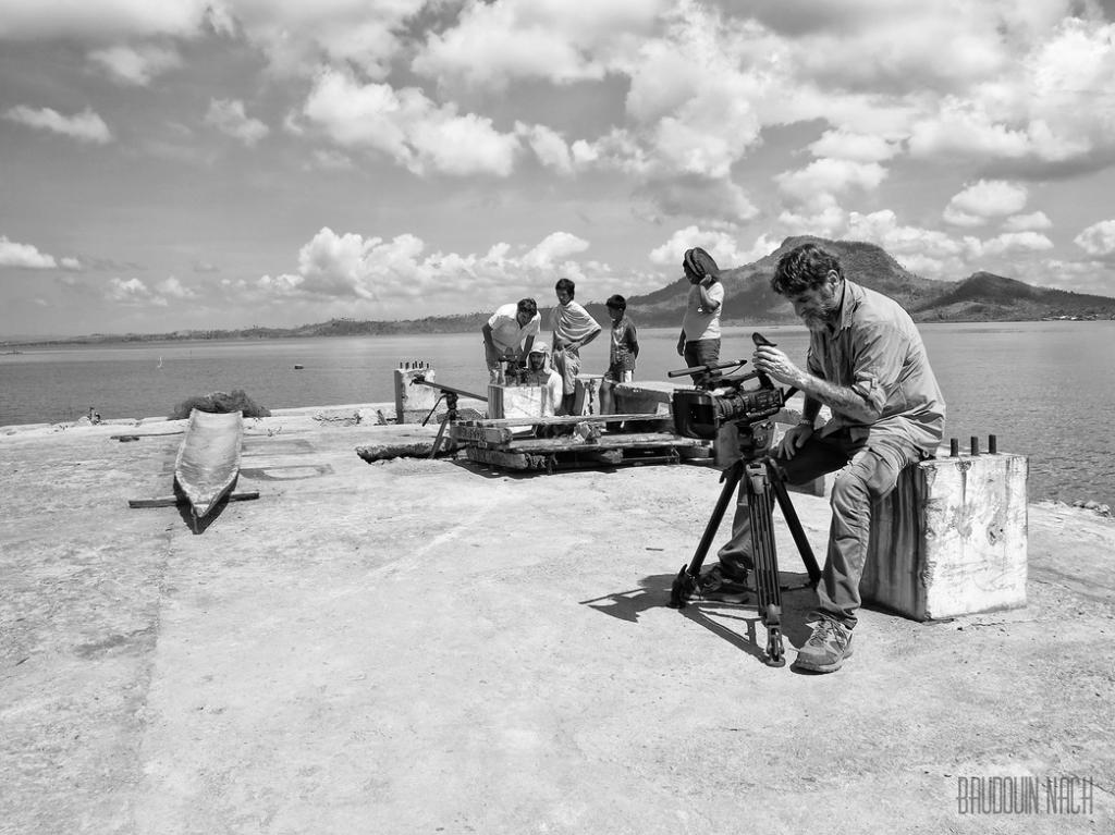 L'équipe de tournage du film promotionnel pour l'UNDP.