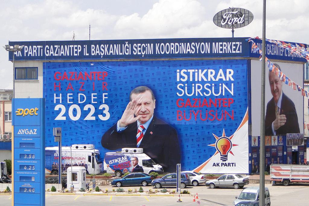 Des bannières appelant à voter Erdogan lors des élections législatives de 2011. (photo flickr/Adam Jones)