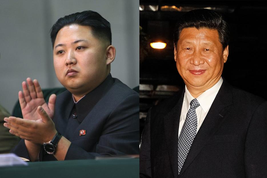 A gauche, Kim Jong-Un, dirigeant de la Corée du Nord. A droite, Xi Jinping, président de la République populaire de Chine. (flickr/ petersnoopy/Blog do Planalto)
