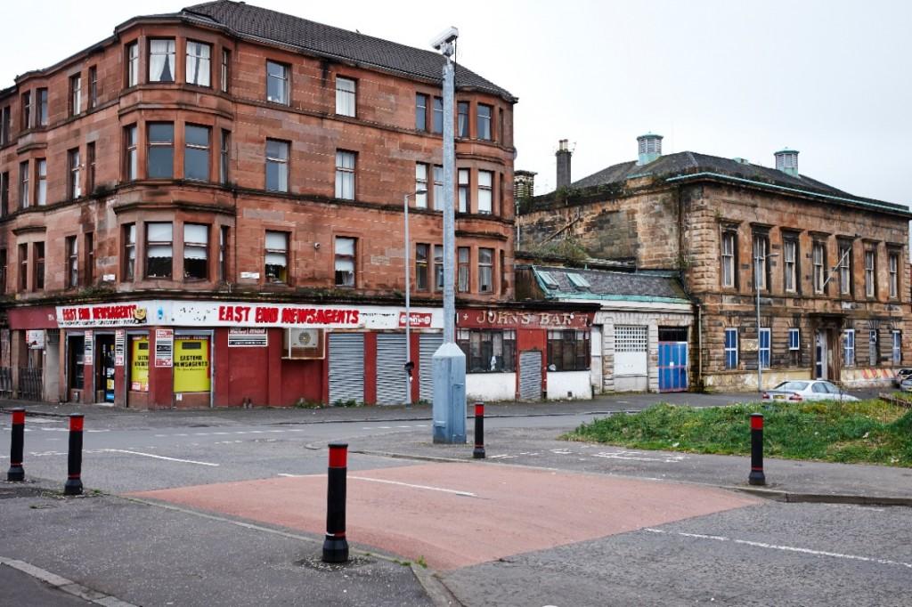 Stevenson Street, l'artère emblématique de Calton, dans le East End, Glasgow (photo Thomas Halkin/8e étage)