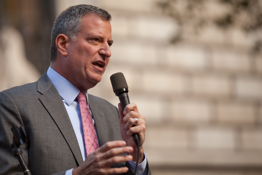 Bill de Blasio, maire de New York. (photo flickr/kevdia)