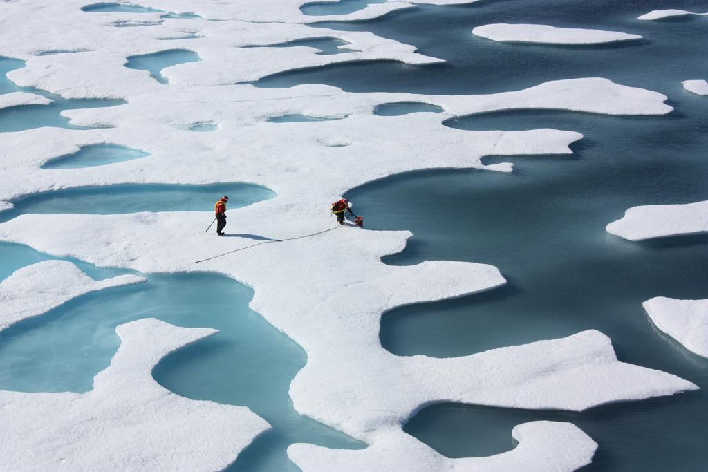 Mission de la NASA sur les impacts du climat sur l'écosystème et la chimie de l'environnement arctique en 2011. (flickr/NASA)