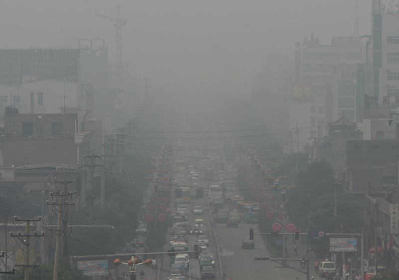 """Linfen en Chine, qualifiée par certaines associations de """"ville la plus sale du monde"""". (flickr/sheilaz413)"""