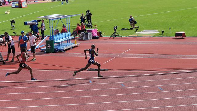 A Zurich, l'Anglais d'origine éthiopienne  Mo Farah n'aura laissé aucune chance à ses adversaires russes en remportant l'or sur 5000 et 10000 mètres. (photo flickr/jonathanrjones)