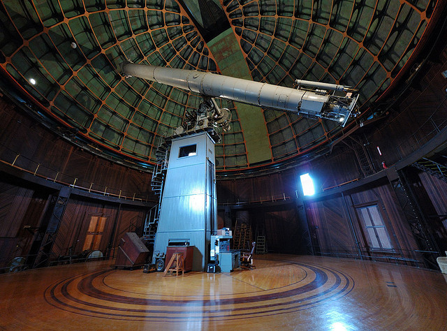 Le télescope du Lick Observatory à Mount Hamilton, Californie. (photo flickr/frankz)