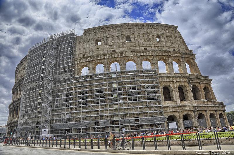 La marque Tod's a injecté 20 millions d'euros dans la restauration du Colisée. (photo flickr/xambax)