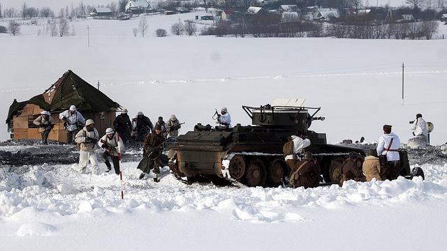Les forces biélorusses en démonstration à l'occasion de la journée nationale de l'armée. (photo flickr/radiosvaboda)