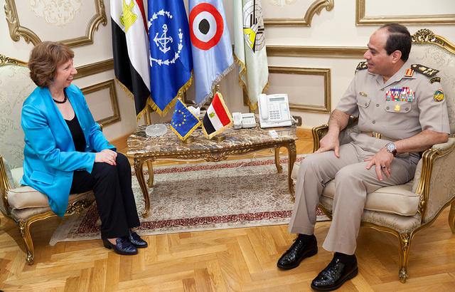 Depuis son arrivée au pouvoir l'année dernière, le Président Abdelfatah Khalil al-Sisi est l'homme fort du régime.