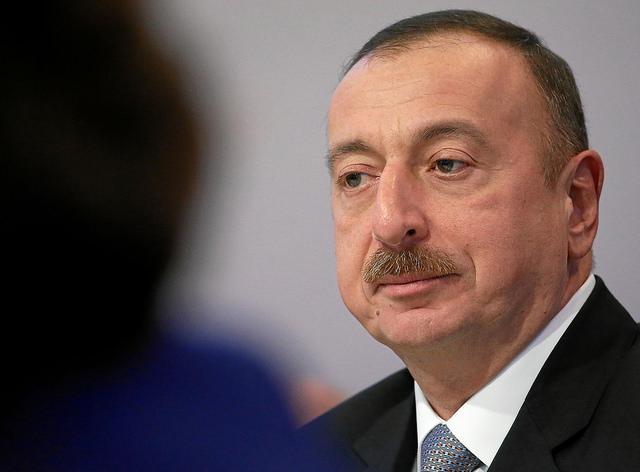 Ilham Aliyev, président de l'Azerbaïdjan, au Forum mondial de l'économie en janvier dernier. (photo worldeconomicforum)