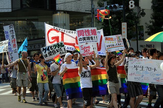Gay pride de Tokyo, 2007. (photo flickr/aranmanoth)