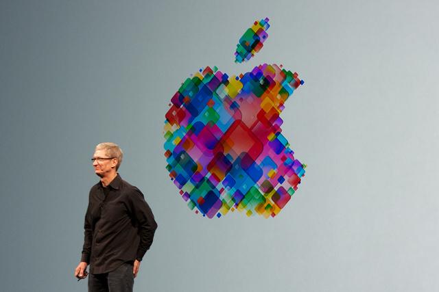 Le PDG d'Apple, Tim Cook, en 2012 lors de la Worldwide Developers Conference (WWDC). (photo Flickr/Mike Deerkoski)