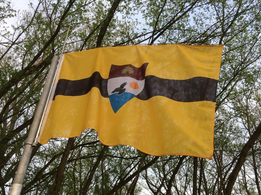 Le drapeau du Liberland.