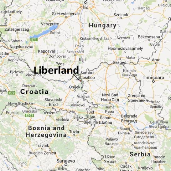 Le Liberland, un petit bout de terre de sept kilomètres carrés niché entre la Serbie et la Croatie. (Capture d'écran: http://liberland.org/en/about/)