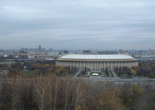 Le stade Luzhniki de Moscou, en 2012.  (photo Flickr/&nbsp,Paul Nuttall)