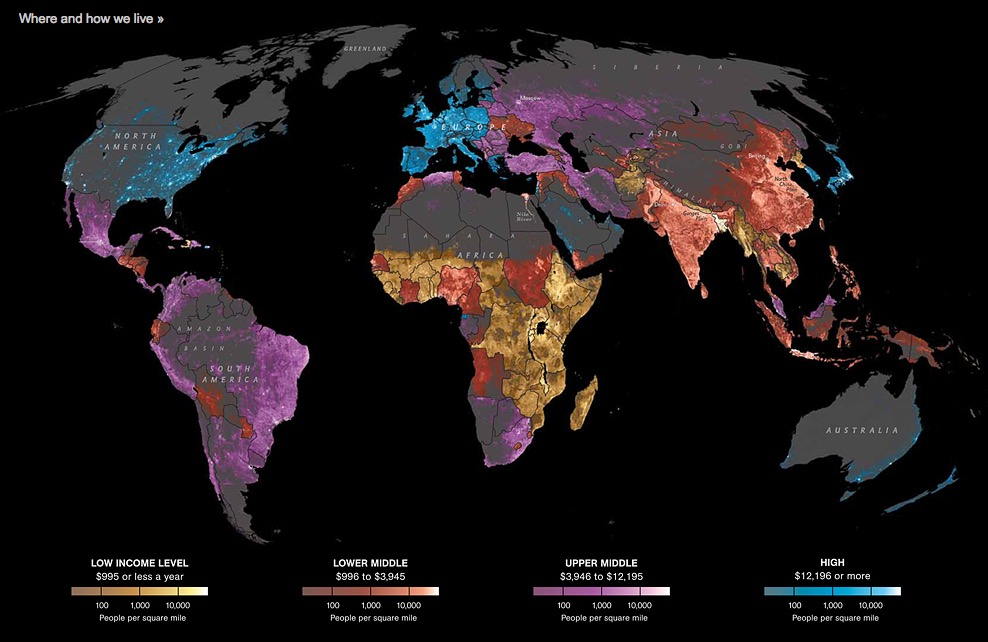 Où vivons-nous. (Source: National Geographic)