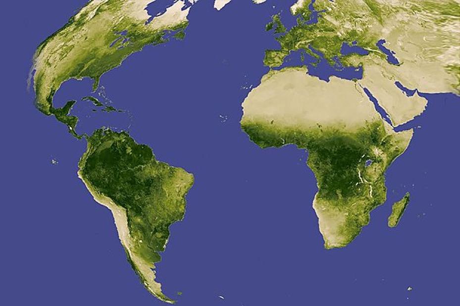 Où se trouvent les arbres? (Source: NASA) Cliquez pour agrandir