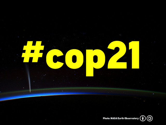 La 21e Conférence des parties de la Convention-cadre des Nations unies sur les changements climatiques de 2015 aura lieu à Paris en décembre.
