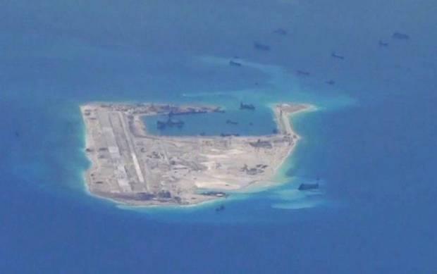 L'île artificielle de la Chine.