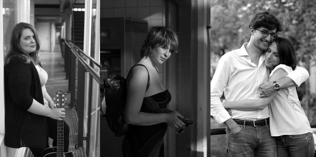Maria, chanteuse, Stefania, Silvia et Paolo, à Amsterdam. (photo Andrei Runcanu)