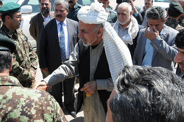 Avec  président Afghan Ashraf Ghani (Photo Flickr/Global Panorama)