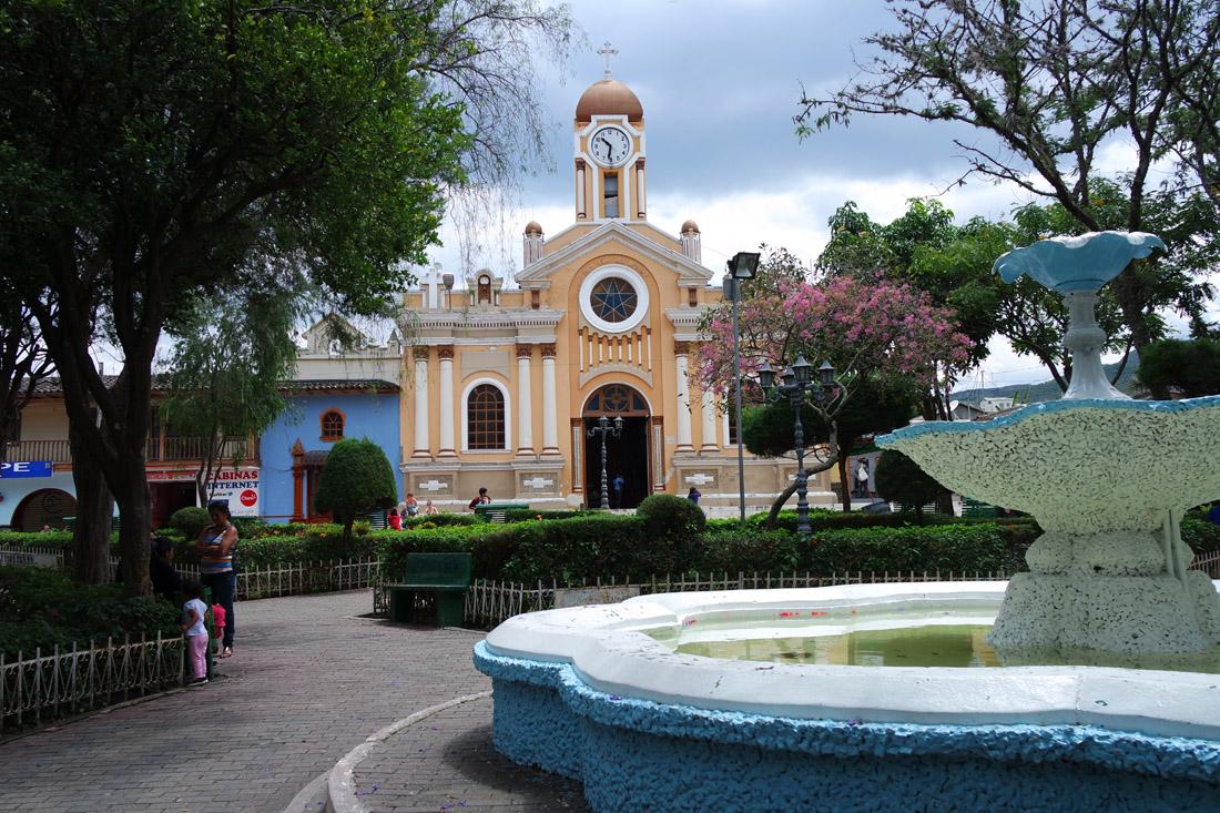 La place centrale de Vilcabamba. (Photo Grégoire Nartz/8e étage)