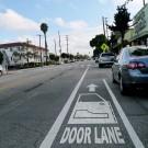 Un utilisateur de Flickr propose ce type d'aménagement pour les cyclistes à Santa Monica en Californie (photo flickr/Gary Rides Bikes)