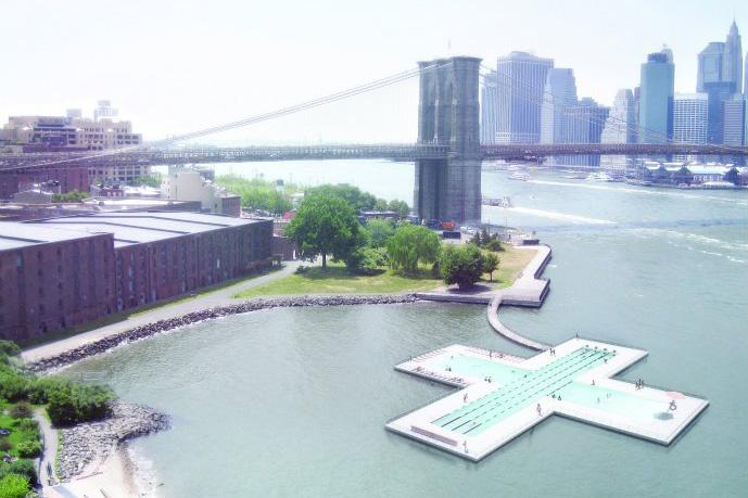 Une piscine publique flottante new york un projet de for Piscine publique