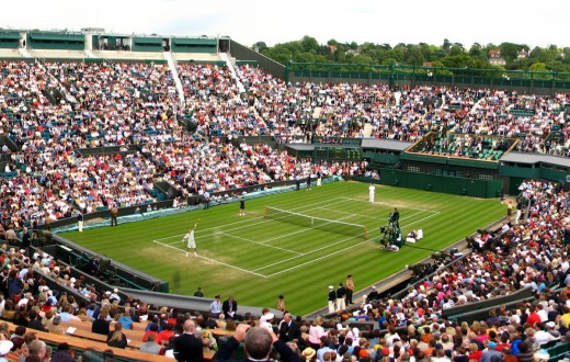 Le court central de Wimbledon. (photo flickr/Roo Reynolds)
