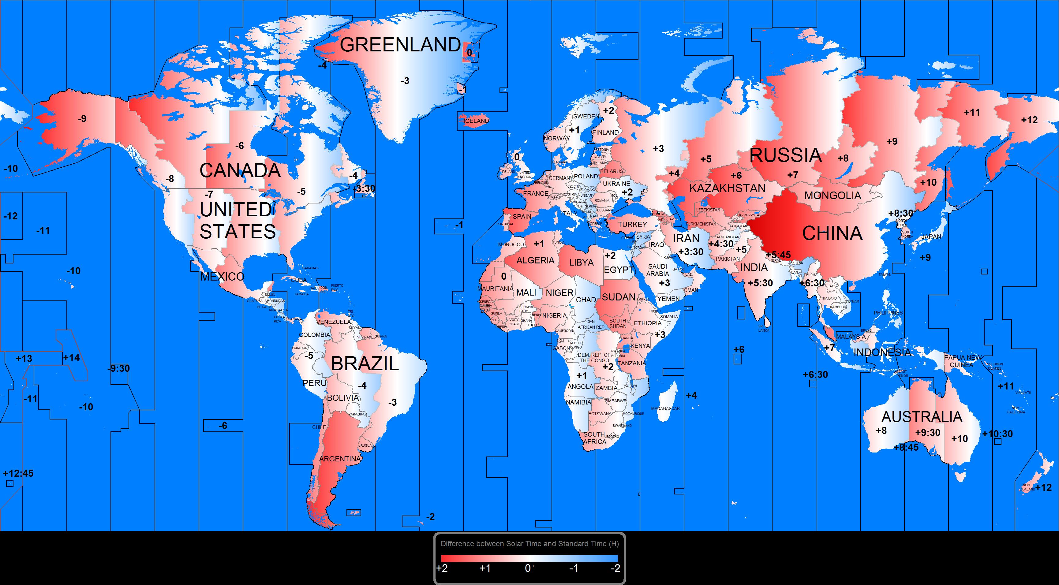 La Chine est le plus grand pays du monde appliquant une heure unique