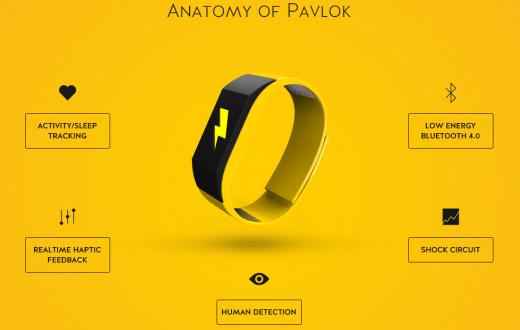 Le Pavlok vous enverra une micro décharge électrique à chaque fois que vous effectuerez une action que vous vous êtes interdite. (photo indiegogo/Pavlok)