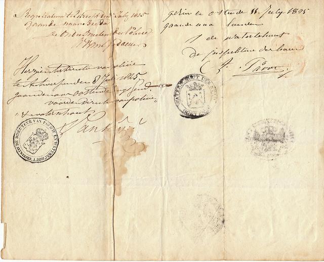 Ancêtre du passeport, ce laissez-passer délivré par la police hollandaise en 1805 assurait à son porteur le droit de voyager partout dans le monde néerlandais (i.e. le royaume des Pays-Bas ainsi que les multiples colonies du pays). (photo flick/justderek)