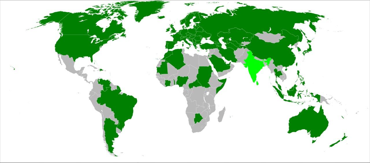 Carte des pays utilisant le passeport biométrique.