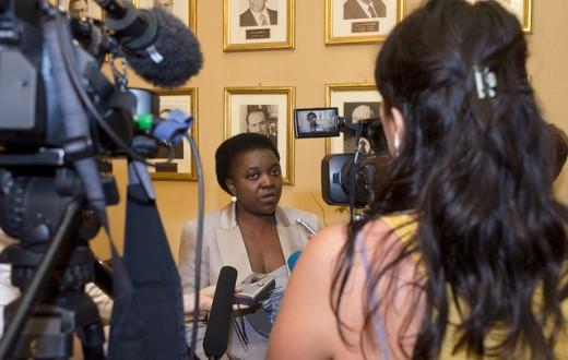 Cécile Kyenge, ministre de l'Intégration italienne de 2013 à 2014. (flickr/palazzochigi)