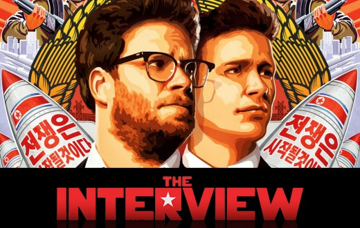 "L'affiche du film The Interview, à l'origine de l'affaire du ""Sony Gate"". (image Sony Pictures)"