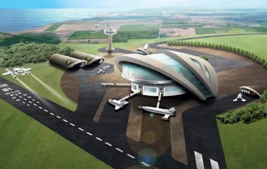 Le spaceport comme imaginé par le gouvernement britannique.