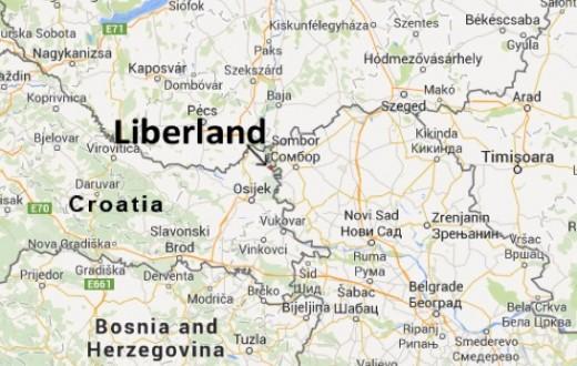 Le Liberland, un petit bout de terre de sept kilomètres carrés niché entre la Serbie et la Croatie. (Capture d'écran : http://liberland.org/en/about/)