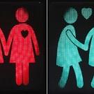 Les nouveaux feux de signalisation de Vienne montrent des couples de même sexe au lieu des traditionnels bonhommes bâton. (photo AFP)
