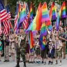 Des Boy Scouts participant à la Gay Pride de Seattle en 2015. (Photo Flickr/scottlum)