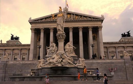 Le Parlement autrichien, siège des deux chambres de l'Assemblée fédérale. (Photo Flickr/-Reji)