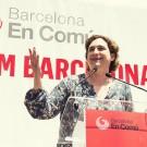 Ada Colau lors d'un meeting de campagne le 9 mai dernier. (Photo Flickr/Barcelona En Comú)