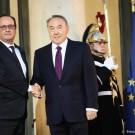 En visite en France le 5 novembre dernier, le président Nazarbayev a réaffirmé le partenariat stratégique entre la France et le Kazakhstan lancé en 2008. Des contrats entre des entreprises des deux pays ont été signés. (photo Elysée)