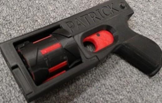 Le PM522, revolver 8 coups entièrement fabriqué grâce à une imprimante 3D.