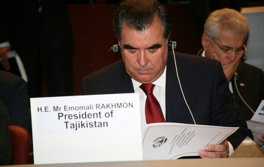 Le président tadjik Emomali Rakhmon en 2009. (Photo Flickr/  worldmetorg)