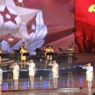 KCNA picture shows the Moranbong Band performing for participants of the Fifth Conference of Training Officers of the Korean People's Army at the People's Palace of Culture in Pyongyang