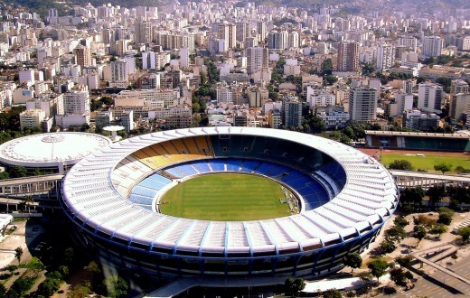 Le stade Maracana de Rio de Janeiro accueillera des matches de foot et les cérémonies d'ouverture et de clôture des JO. (Photo Wikipedia)