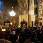 Une messe dans la cathédrale orthodoxe de Tbilissi. (Photo Flickr/tamasmatusik)