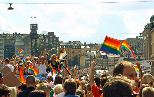 La LGBT pride de Stockholm en 2012. (Photo Flickr/ trollhare)