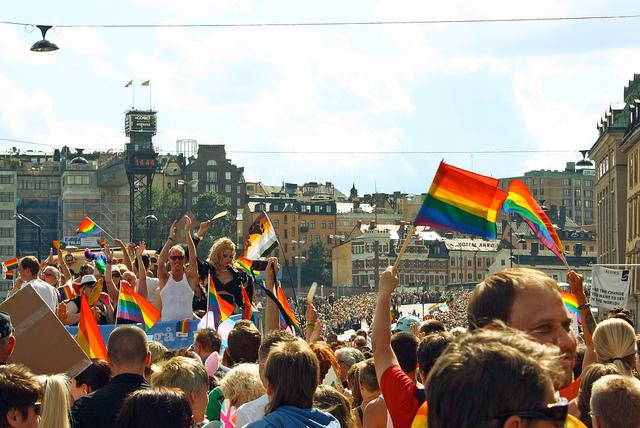 La LGBT pride de Stockholm en 2012. (Photo Flickr/trollhare)
