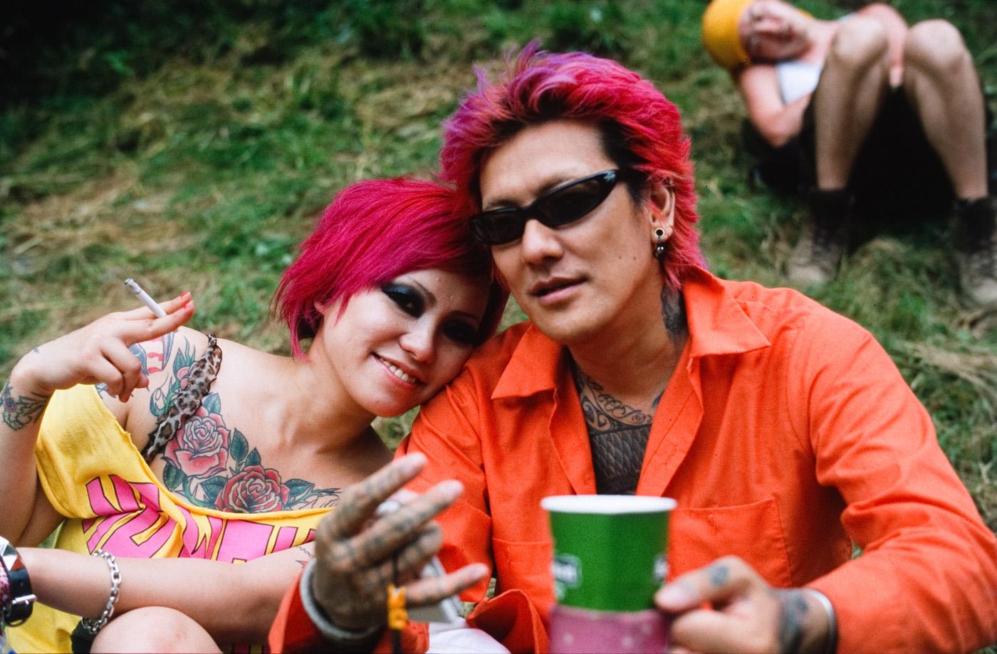 Un couple de Japonais au Fuji Rock Festival de 2009. (photo CC Kevin Utting)