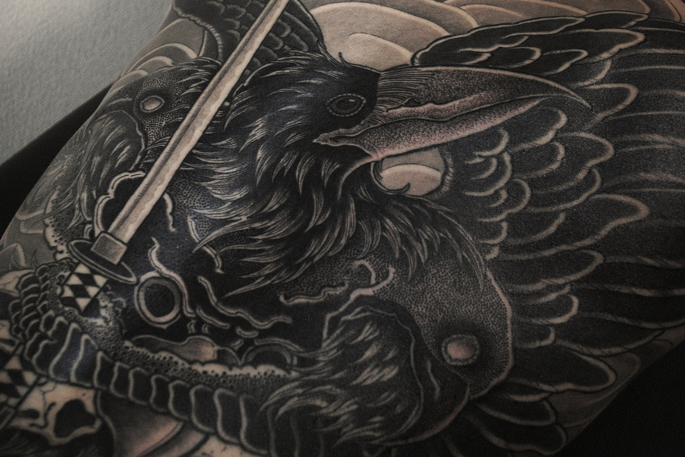 Oeuvre du tatoueur japonais Gakkin. (photo Gakkin)